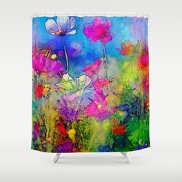 Just living is not enough... one must have sunshine, freedom, and a little flower. Hans Christian A Shower Curtain