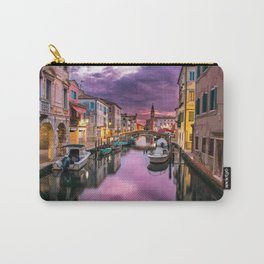 Venice Canal Night Italy Carry-All Pouch