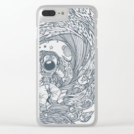 I Only Surf On Comet Clear iPhone Case