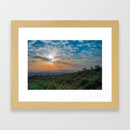 Colorful sunrise on Italian Apennine Mountains Framed Art Print