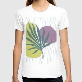 Big palm leaf geometric Design #society6 T-shirt