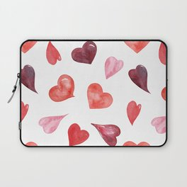 watercolor love pattern with hearts Laptop Sleeve