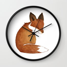 Resting Fox Wall Clock