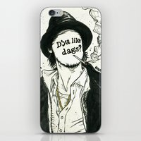 "snatch iPhone & iPod Skins featuring ""D'ya like dags?"", 2014 by Unaitxo"