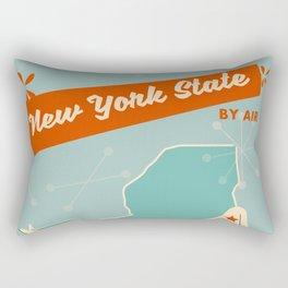 New York State vintage travel poster Rectangular Pillow
