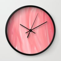 moulin rouge Wall Clocks featuring ROUGE by C O R N E L L