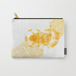 Explorer Schematic Orange On White Carry-All Pouch