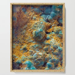 Bubbly Turquoise with Rusty Dust Serving Tray
