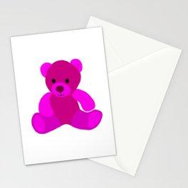 Bright Pink Teddy Bear Stationery Cards