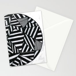 Stripes filled circle Stationery Cards