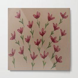 Scattered Flowers Metal Print