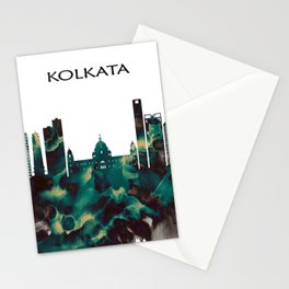 Kolkata Skyline Stationery Cards