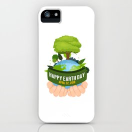 Green Environment Global Nature Lovers Happy Earth Day Gift iPhone Case