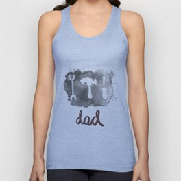 DAD TOOLS - BLACK AND WHITE Unisex Tank Top