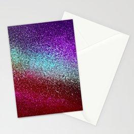 RAINBOW MOSAIC GLITTER Stationery Cards