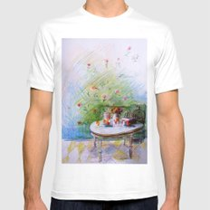 Breakfast Mens Fitted Tee White MEDIUM