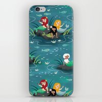 mermaids iPhone & iPod Skins featuring Mermaids by Miss Fortune
