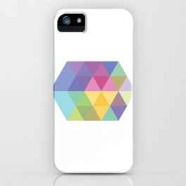 Fig. 015 Colorful Hexagon iPhone Case
