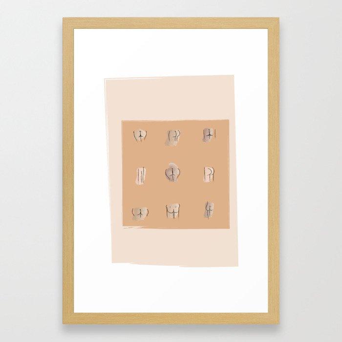 Ode to Bums Framed Art Print