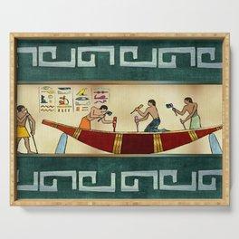 Craftsmanship Egyptian Folk Art Serving Tray