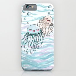 Cute jellyfishes iPhone Case