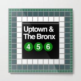 subway bronx sign Metal Print