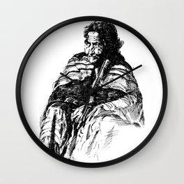 Pose of an Indian Woman Wall Clock