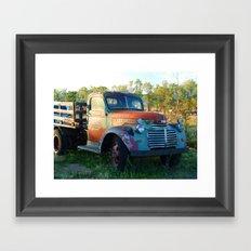 Santa Fe Truck Framed Art Print