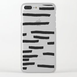 Minimal B&W Clear iPhone Case