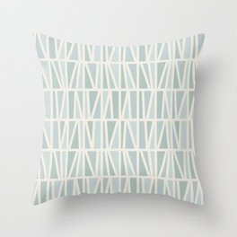 Slanted in Mint Throw Pillow
