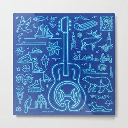Canadiana Icons - Guitar Metal Print