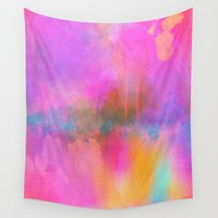 android Wall Tapestries featuring Rainbow Watercolor by Jenna Davis Designs