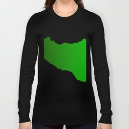 sicilian map Long Sleeve T-shirt