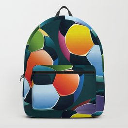 Colorful Soccer Ball Backpack