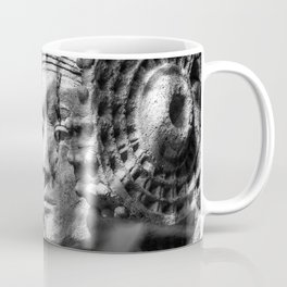 Lady of Elche Mother Goddess in Black and White - Ancient Carthaginian Sacred Art Coffee Mug