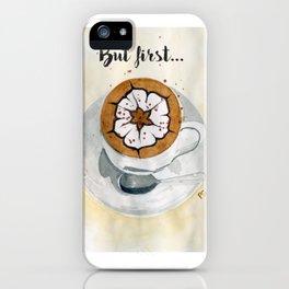 Cappuccino iPhone Case