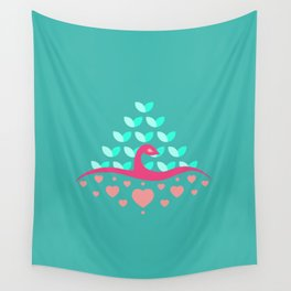 Be Beautiful - Be Colourful Peacock Wall Tapestry