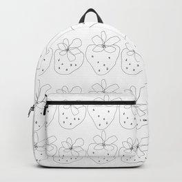 Ever After - Food Fruit Strawberry Illustration Love Backpack