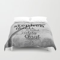 stephen king Duvet Covers featuring Stephen by KimberosePhotography