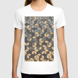 Concrete and Wood Cubes T-shirt