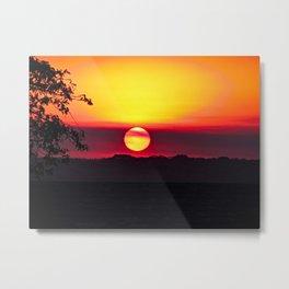 African Sunset Savanna Acacia Tree Metal Print