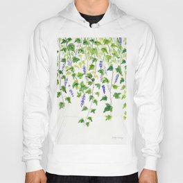 Ivy and Lavender Watercolor Hoody