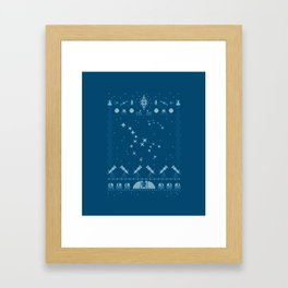 Ugly Astronomy Sweater Framed Art Print