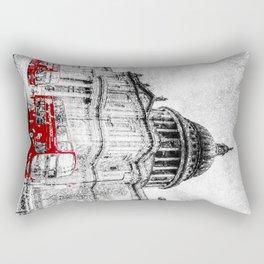 St Paul's Cathedral London Snow Rectangular Pillow