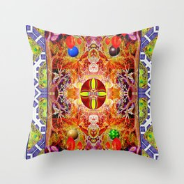 Cool Day at the Beach Throw Pillow