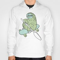 sloths Hoodies featuring Lazy Susan - surfin' sloths series by The Art of Shinn