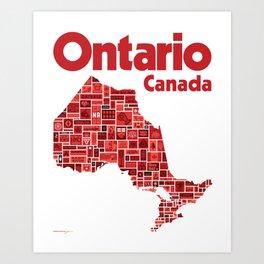 Everything Ontario - Canada 150 Poster Art Print