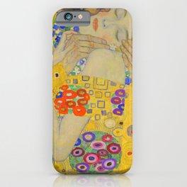Gustav Klimt The Kiss Detail iPhone Case