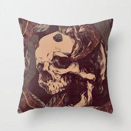 The Ouroboros of Yorick Throw Pillow
