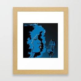 Jazz singer Framed Art Print
